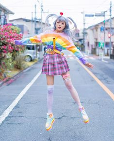 japanese fashion New year jumping! Japanese Street Fashion, Tokyo Fashion, Harajuku Fashion, Kawaii Fashion, Lolita Fashion, Cute Fashion, Korean Fashion, Girl Fashion, Harajuku Style