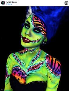 screen shot 2017 09 28 at 2 10 57 pm These Lisa Frank inspired Halloween makeup looks will set your 90s soul on fire