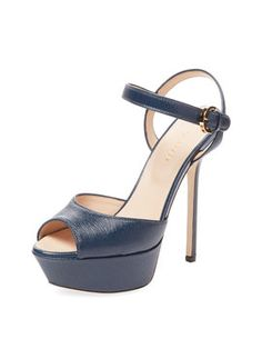 Angie Textured Leather Platform Sandal from Viva Italia: Designer Shoes on Gilt