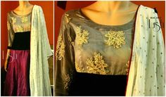 #macawz #designer #instafashion #anarkali #grey #wine #rawsilk #print #embroidery #georgette