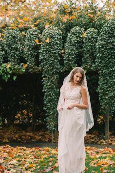 Lace wedding gown Bridal dress silk dress with by WanluBridal