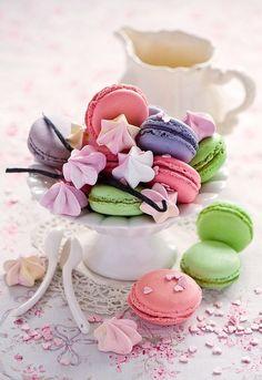 meringues and macarons