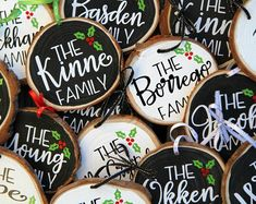 Check out our wood slice ornament selection for the very best in unique or custom, handmade pieces from our shops. Painted Ornaments, Wooden Ornaments, Personalized Ornaments, Diy Ornaments, Ornament Crafts, Christmas Wood, Christmas Signs, Christmas Tree Ornaments, Christmas Ideas