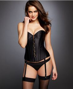 L'Agent by Agent Provocateur Penelope Corset and Thong - Sexy Lingerie - Women - Macy's