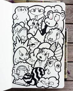 JTense (@jtense_art) • Instagram photos and videos Easy Doodles Drawings, Easy Cartoon Drawings, Doodle Cartoon, Girly Drawings, Art Drawings Sketches Simple, Cute Doodle Art, Doodle Art Designs, Doodle Art Drawing, Cute Doodles