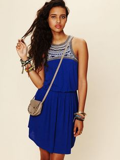 Love the blue : Festival Knit Dress