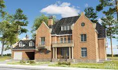 жилой дом в английском стиле #architecture #housing #english #british #anglican #royal #3floors_9m #300_500m2 #facade_brick #cottage #mansion