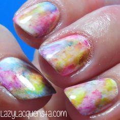 Lazy Lacquerista: Simples :: Watercolour Nail Art
