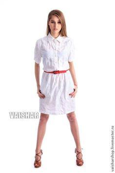 Летнее платье-рубашка. Handmade.