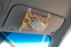 Car Visor Wipes Case - Travel Wipes Holder -- What a good idea!!