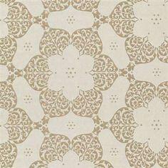Eijffinger-Carte-Blanche-Geometric-Flower-Feature-Wallpaper-Cream-Gold-302022