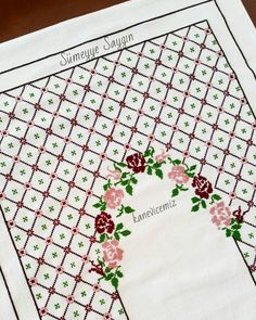 Cross Stitch Cards, Cross Stitch Rose, Cross Stitch Borders, Cross Stitch Designs, Cross Stitch Patterns, Palestinian Embroidery, Embroidery Stitches Tutorial, Prayer Rug, Bargello