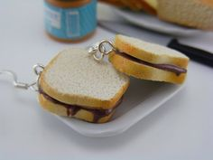 Darling, if you want me to nibble on your ear, wearing Nutella Sandwich earrings might help.