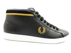 #FredPerry #sneakers #pelle #nero #uomo #zooode