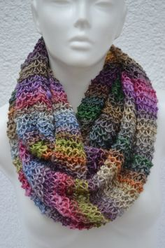 Loop Hose Scarf Merino multicolored mottled