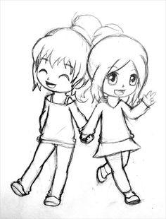 Love u bestii best friends cartoon, friend cartoon, friendship sketches, best friend sketches Girl Drawing Sketches, Cute Easy Drawings, Girly Drawings, Art Drawings Sketches Simple, Disney Drawings, Pencil Drawings, Cool Cartoon Drawings, Kawaii Girl Drawings, Cute Girl Drawing