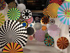 Rainbow Pinwheels, by artists Ara Peterson and Jim Drain