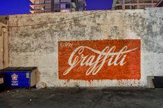 "Street Art by Ernest Zacharevic - New mural: ""Enjoy Graffiti"" - Los Angeles, CA - Banksy, Graffiti Art, Urban Street Art, Urban Art, Urbane Kunst, Francis Picabia, Amazing Street Art, Outdoor Art, Chalk Art"