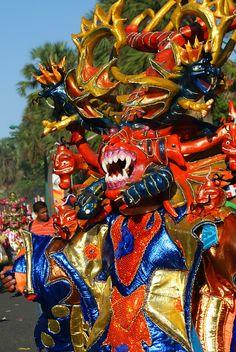 Diablo Cojuelo at CarnIval in La Vega,  DOMINICAN REPUBLIC                                                 (IX by Karen Blix, via Flickr)