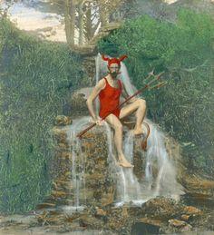Male Fairy, Underworld, Vintage Photographs, Restoration, Illustration, Artwork, Pictures, Painting, Image