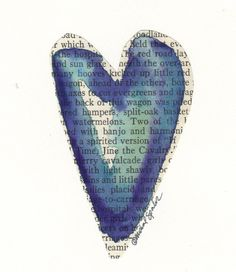 watercolor heart - pin over obit or other memento from a love
