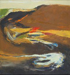 "Bernice Bing, ""Mayacamas No. 3"", 1963, oil on canvas, 35"" x 33"""