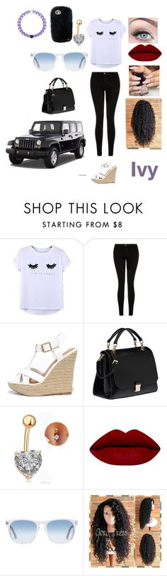 """""""Untitled #241"""" by jordan-michaela ❤ liked on Polyvore featuring Chicnova Fashion, Current/Elliott, Wild Diva, Miu Miu, Oliver Peoples and Wrangler"""