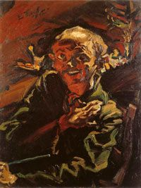 Ludwig Meidner, Selbstbildnis (Self-portrait). 1912, Oil on canvas. This painting was exhibited at the Degenerate art exhibition in 1937.