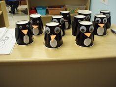 paper cup penguins!