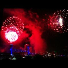 """@ryan_poloway's photo: """"#fireworks from on top of the #Omni in #downtown #jax #fourthofjuly"""""""