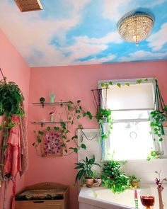 My bathrooms mood now is if heaven was a peach rococo dream.🦋 My bathrooms mood now is if heaven Dream Rooms, Dream Bedroom, My New Room, My Room, Passion Deco, Indie Room, Cute Room Decor, Aesthetic Room Decor, Pretty Room