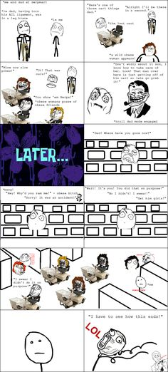 Rage Comics: They chased him around the walmart twice before being stopped