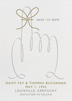 Paperless Post - String Reminder Save the Date Beautiful Wedding Invitations, Custom Wedding Invitations, Wedding Save The Dates, Save The Date Cards, Save The Date Online, Paperless Post, Bachelorette Party Invitations, Wedding Announcements, Foil Stamping