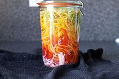 pickled vegetable sandwich slaw from Smitten Kitchen. Would be a fun way to dress up a sub sandwich. Summer Recipes, Great Recipes, Vegan Recipes, Food Styling, Lentil Burgers, Seitan, Smitten Kitchen, Mets, Fermented Foods