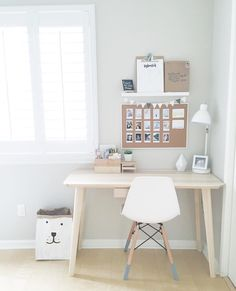 office, chair, table, board