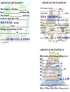 Articles of Faith memorization book pg4