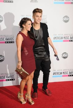 Justin Bieber and his mom