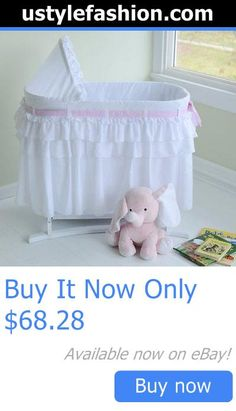 Bassinets And Cradles: Lamont Home Good Night Baby Bassinet, Full White Skirt BUY IT NOW ONLY: $68.28 #ustylefashionBassinetsAndCradles OR #ustylefashion