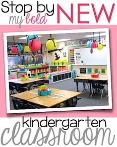 bright, pretty kindergarten classroom!