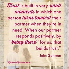 Every marriage needs trust to succeed. Knowing how to regain trust and better yet, maintain it in the first place will help your marriage thrive. Click the pin to read more.   marriage, love, relationships, Gottman institute, trust,