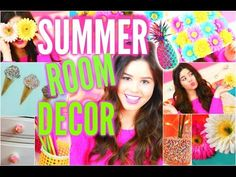 DIY Summer Room Decor: Tumblr Inspired Room Decorations! - YouTube