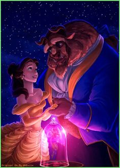 Beauty and the Beast by elaina-f on DeviantArtYou can find Disney animation and more on our website.Beauty and the Beast by elaina-f on DeviantArt Disney Pixar, Disney Animation, Film Disney, Disney And Dreamworks, Disney Cartoons, Disney Art, Disney Movies, Pixar Movies, Disney Ideas