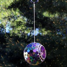 Suet Bird Feeder, Wild Bird Feeders, Hanging Bird Feeders, Hanging Wire, Bird Feeding Station, Mosaic Birds, Rainbow Glass, Thing 1, Mosaic Designs