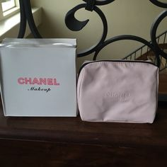 Chanel makeup bag Super soft! Super cute! New but the box got a little smashed. I give discounts on bundles :-) CHANEL Bags Cosmetic Bags & Cases