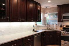 dark cabinets light granite