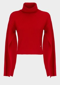 Versace Power Sleeve Knit Sweater. Turtle-neck sweater fashions. I'm an affiliate marketer. When you click on a link or buy from the retailer, I earn a commission.