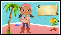 Izzi's character Jake and the Neverland Pirates: Free Printable Mini Kit.