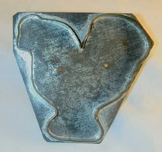 Early Rare Tin Pennsylvania Flat-Back Cookie Cutter Large Rooster