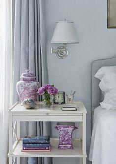 pretty purple pots       Image via: Susan Reddick Design