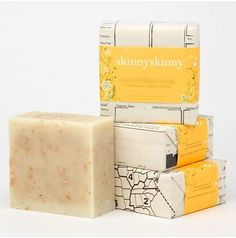 Organic Soap Packaging from Brooklyn, NY based SkinnySkinny.